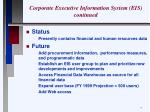 corporate executive information system eis continued