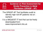 guidance on risk assessment for stroke prevention in atrial fibrillation grasp af10
