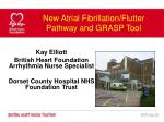 new atrial fibrillation flutter pathway and grasp tool