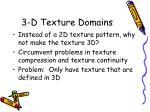 3 d texture domains