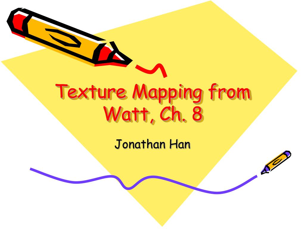 texture mapping from watt ch 8 l.