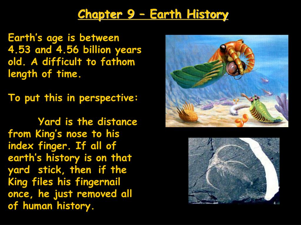 chapter 9 earth history l.