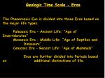 geologic time scale eras