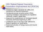 1991 federal deposit insurance corporation improvement act fdicia