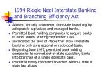 1994 riegle neal interstate banking and branching efficiency act