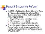 deposit insurance reform