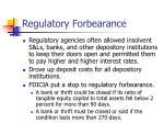 regulatory forbearance