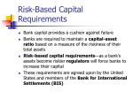 risk based capital requirements