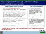 accessing the bpas through usda advantage www usdaadvantage gsa gov