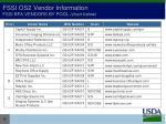 fssi os2 vendor information fssi bpa vendors by pool chart below