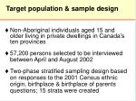 target population sample design