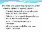 business and economic research center48