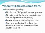 where will growth come from41