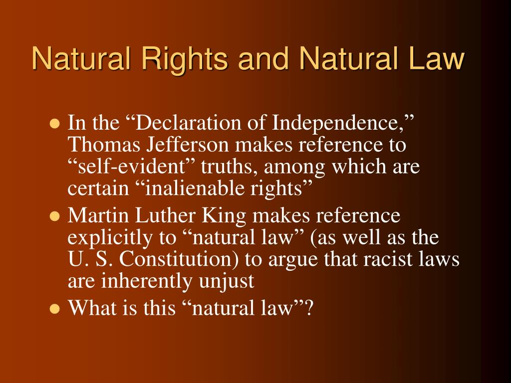 natural rights and natural law l.