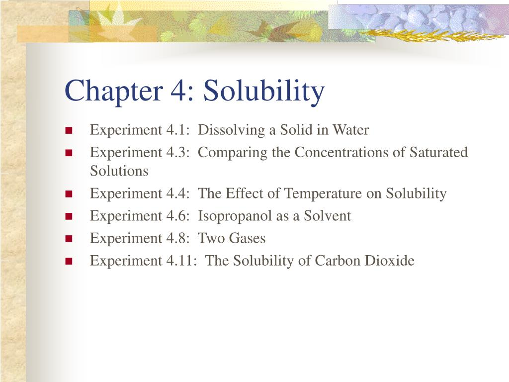 chapter 4 solubility l.