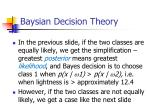 baysian decision theory9