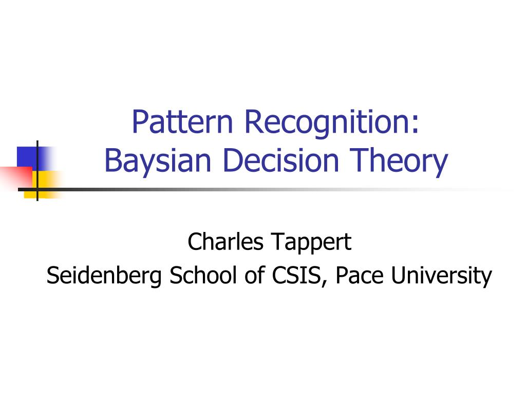 pattern recognition baysian decision theory l.