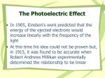 the photoelectric effect29