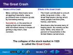 the great crash
