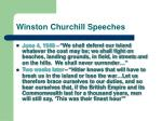 winston churchill speeches