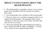 bedau s conclusions about the death penalty