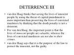 deterrence iii