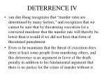deterrence iv