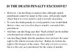 is the death penalty excessive