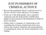 just punishment of criminal action ii