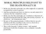 moral principles relevant to the death penalty iii
