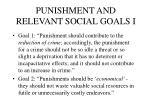 punishment and relevant social goals i