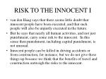 risk to the innocent i