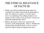 the ethical relevance of facts iii