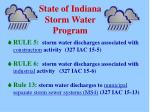 state of indiana storm water program