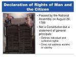 declaration of rights of man and the citizen