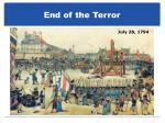 end of the terror