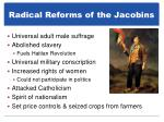 radical reforms of the jacobins