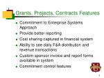 grants projects contracts features