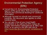 environmental protection agency epa