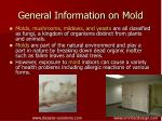 general information on mold