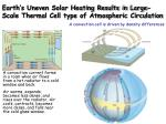 earth s uneven solar heating results in large scale thermal cell type of atmospheric circulation