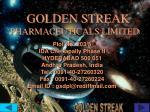 golden streak pharmaceuticals limited