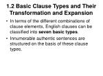 1 2 basic clause types and their transformation and expansion