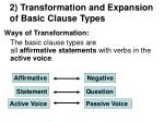 2 transformation and expansion of basic clause types