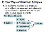 2 two ways of s entence a nalysis