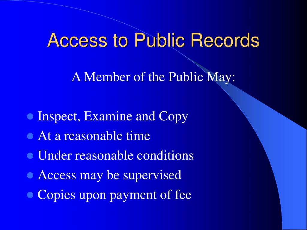 Access to Public Records