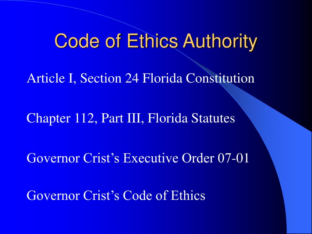 Code of Ethics Authority