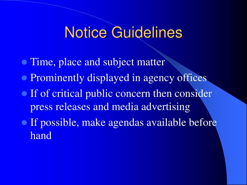Notice Guidelines