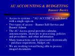 au accounting budgeting banner basics23