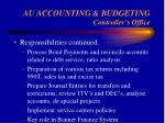au accounting budgeting controller s office20